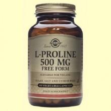 L-Prolina 500 mg - Aminoácidos - Solgar - 100 cápsulas