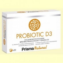 Probiotic D3 - 20 cápsulas - Prisma Natural