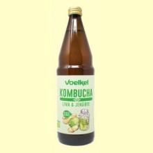 Kombucha Lima y Jengibre Bio - 750 ml - Voelkel