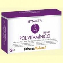 Gynactiv Pre-nat Polivitamínico - 60 cápsulas - Prisma Natural