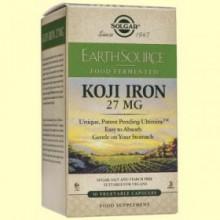 Earth Source Food Fermented Koji Iron - Hierro Fermentad - 30 cápsulas - Solgar