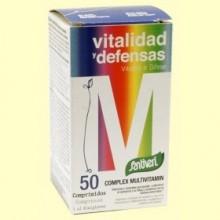 Complex Multivitamin Vitalidad y Defensas - 50 comprimidos - Santiveri