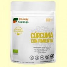 Cúrcuma con Pimienta Negra en Polvo Eco - 200 gramos - Energy Feelings