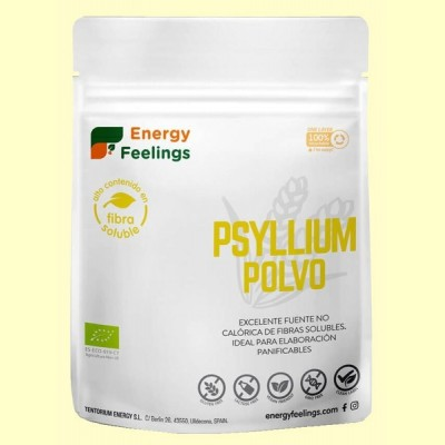 Psyllium Polvo Bio - 200 gramos - Energy Feelings