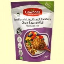 Semillas de Lino Girasol Calabaza Chía y Bayas de Goji Bio - 200 gramos - Linwoods