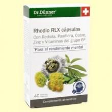Rhodio RLX - 40 cápsulas - Dr. Dünner