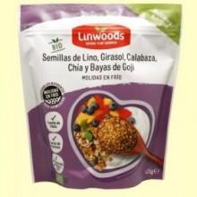 Semillas de Lino Girasol Calabaza Chía y Bayas de Goji Bio - 425 gramos - Linwoods