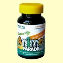Animal Parade Multivitamínico Sabor Naranja - 60 comprimidos - Natures Plus