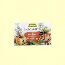 Caldo Vegetal Bio - Granovita - 84 gramos - 8 Cubitos