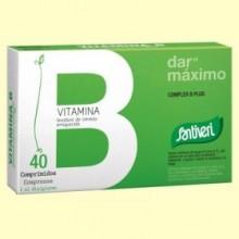 Vitamina Bio Complex B Plus - 40 comprimidos - Santiveri