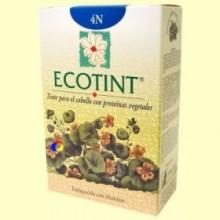 Tinte para el cabello Castaño 4N - 130 ml - Ecotint