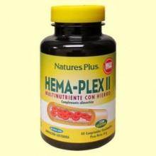 Hema-Plex II - Complejo de hierro - Natures Plus - 60 comprimidos
