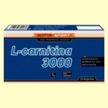 L-Carnitina 3000 mg - 10 ampollas - Sotya
