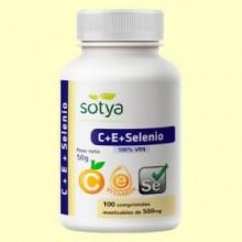 C + E + Selenio - 100 comprimidos - Sotya