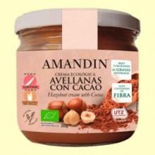Crema Ecológica de Avellanas y Cacao - 330 gramos - Amandin