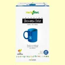 Infusión Herbodiet Descanso Feliz - 20 bolsitas filtro - Novadiet