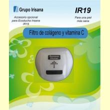 Filtro de colágeno y vitamina C - Accesorio opcional para la ecoducha Irisana IR15 - Grupo Irisana