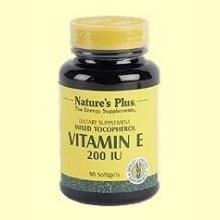 Vitamina E 200 UI - Nature's Plus - 90 perlas