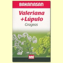 Valeriana + Lúpulo - Bakanasan - 40 grageas