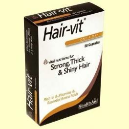 Hair-Vit - 30 cápsulas - Health Aid