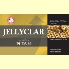 Jalea Real Plus 50 Jellyclar - 20 ampollas - Dieticlar