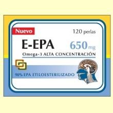 E-EPA - Omega-3 con 90% de EPA 650 mg – 120 perlas – Dieticlar
