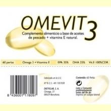 Omevit – 60% de Omega-3 + Vitamina E - 60 perlas - Dieticlar