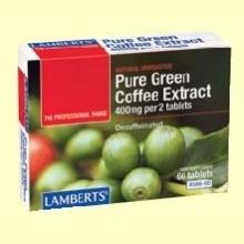 Extracto de Café Verde Puro - 60 tabletas - Lamberts