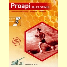 Proapi Jalea Stimul - Jalea real con ginseng + vitaminas + minerales -Sakai - 20 viales