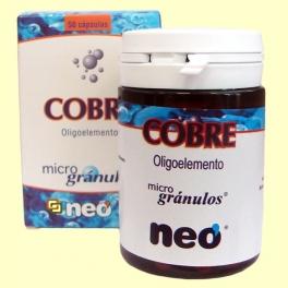 Oligoelementos - Cobre - 50 cápsulas - Neo