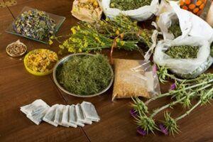 herbs at table