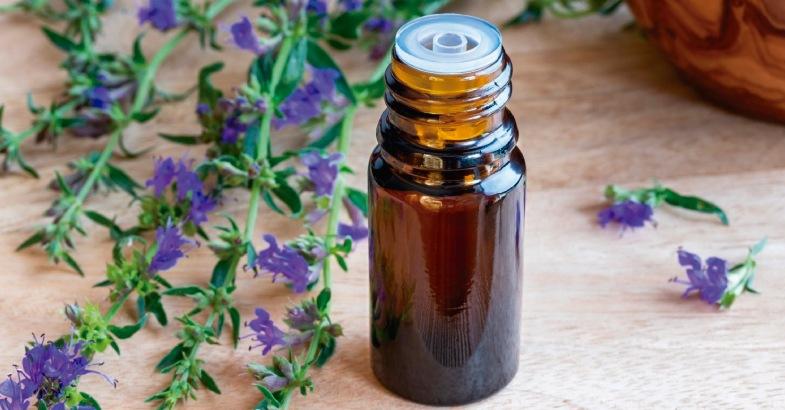 aceite hisopo alivia las irritaciones en la piel la gripe y las alergias